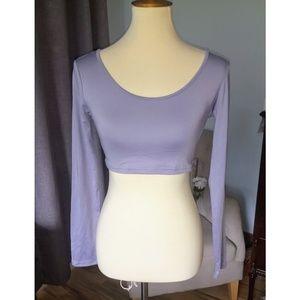 Periwinkle/Purple Long Sleeved Crop Top